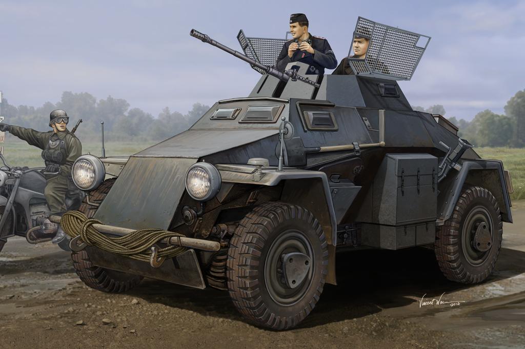 Hobby Boss 1/35 German Sd.Kfz.222 Leichter Panzerspahwagen (3rd Series)