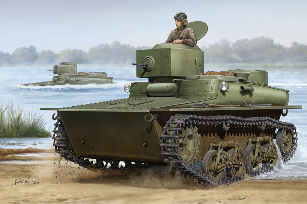 Hobby Boss 1/35 Soviet T-37 Amphibious Light Tank - Early