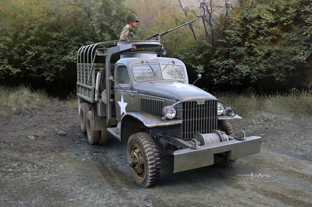 Hobby Boss 1/35 CCKW-352 Machine Gun Turret Version