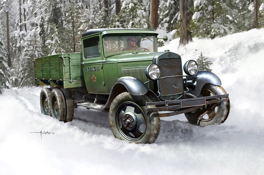 Hobby Boss 1/35 Soviet GAZ-AAA Cargo Truck