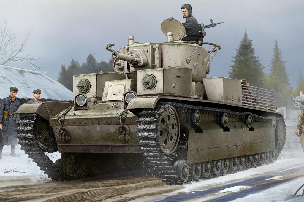 Hobby Boss 1/35 Soviet T-28 Medium Tank (Riveted)