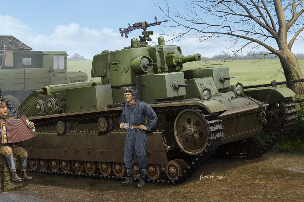 Hobby Boss 1/35 Soviet T-28 Medium Tank (Cone Turret)