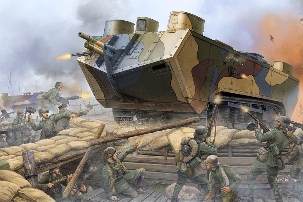 Hobby Boss 1/35 French Saint-Chamond Heavy Tank - Early