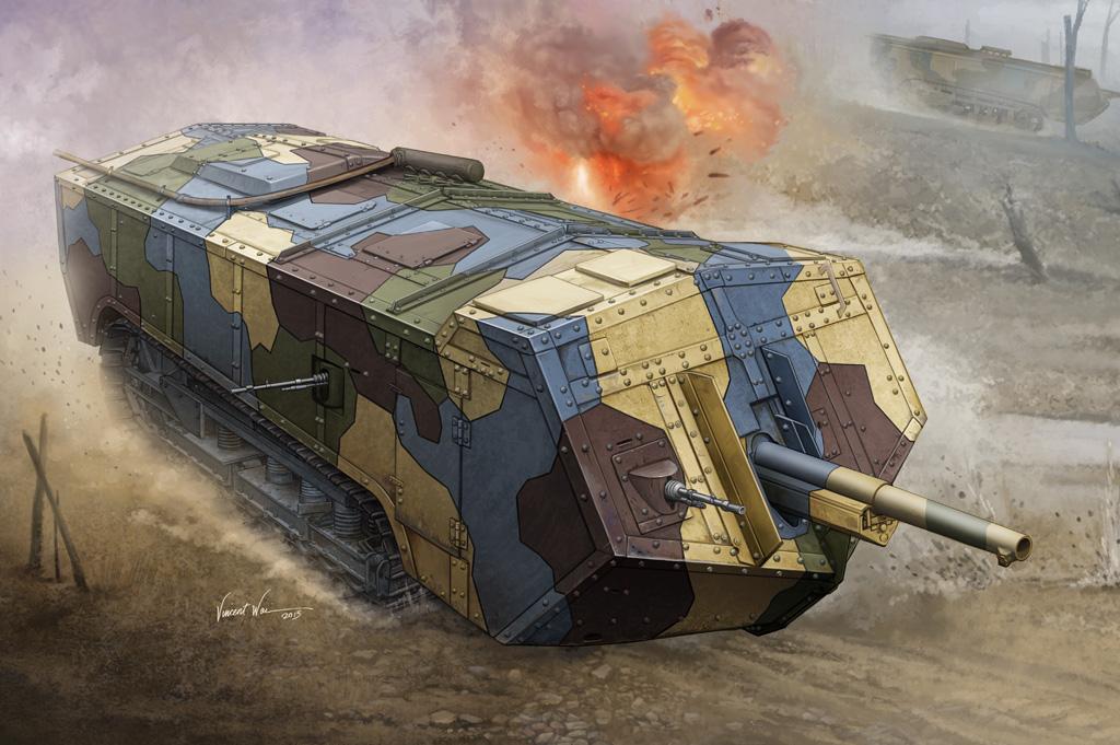 Hobby Boss 1/35 French Saint-Chamond Heavy Tank - Medium