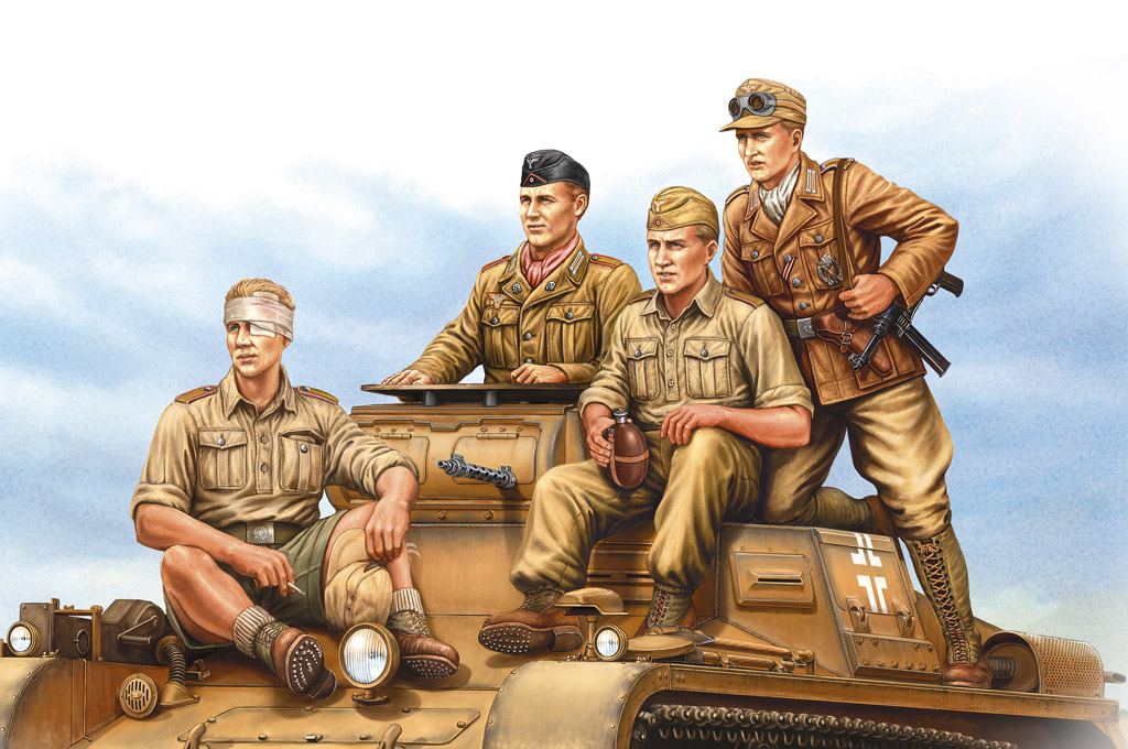 Hobby Boss German Tropical Panzer Crew