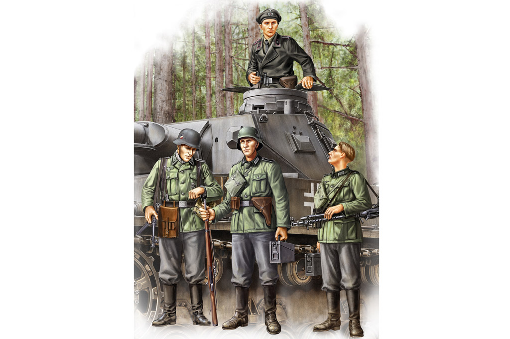 Hobby Boss German Infantry Set Vol.1 (Early)