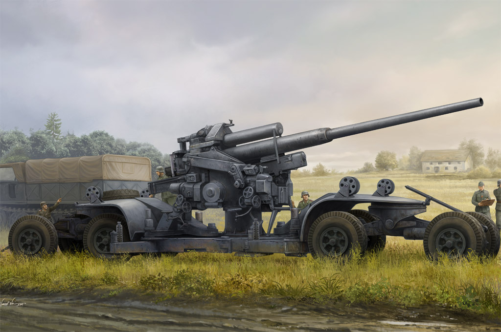 Hobby Boss German 12.8cm FLAK 40