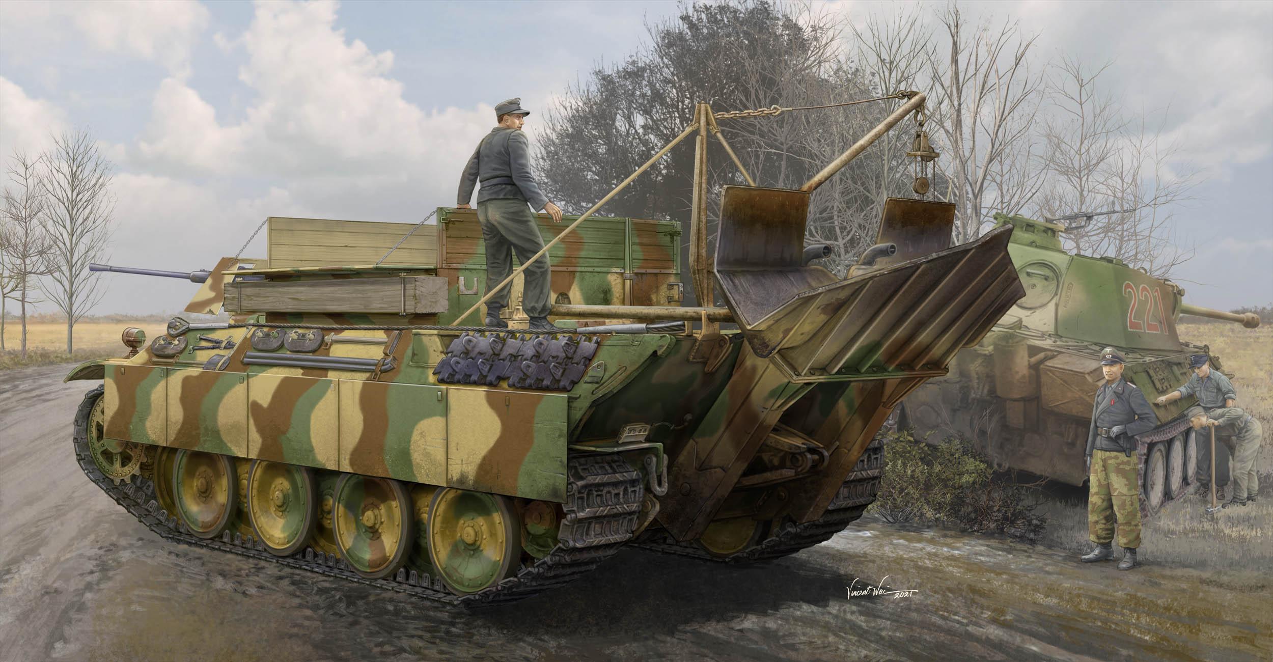 Hobby Boss 1/35 German Sd.Kfz.179 Bergepanther Ausf.G