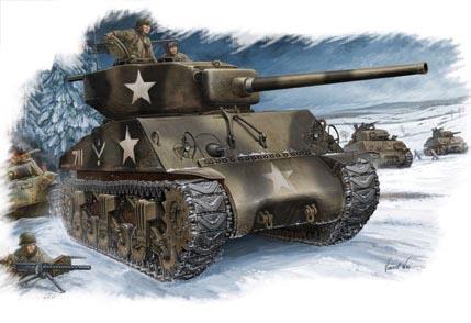 Hobby Boss 1/48 M4A3 (76W) Tank