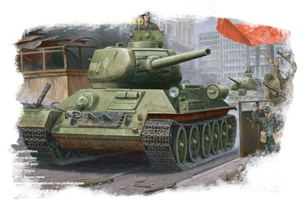 Hobby Boss 1/48 Russian T-34/85 (1944 angle-jointed turret) tank