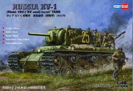Hobby Boss 1/48 Russian KV-1 1941 Small Turret tank