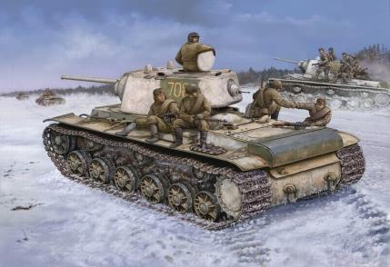 Hobby Boss 1/48 Russian KV-1 1942 Heavy Cast Turret tank