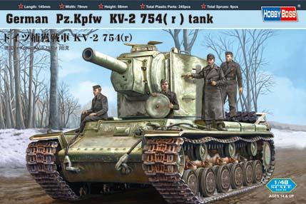 Hobby Boss 1/48 German Pz.Kpfw KV-2 754(r) tank
