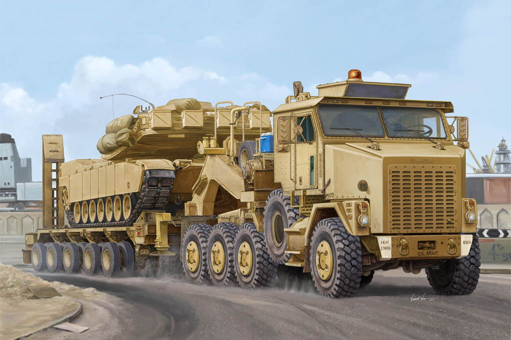 Hobby Boss M1070 Truck Tractor & M1000 Heavy Equipment Transporter Semi-trailer
