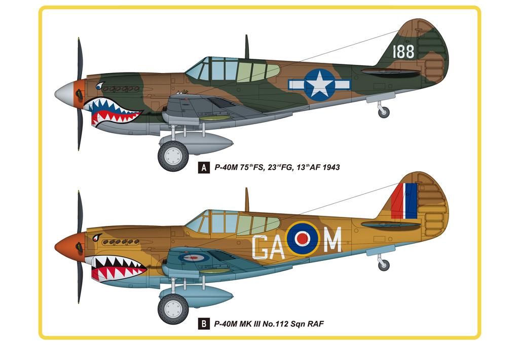 Hobby Boss 1/48 Curtiss P-40M & Kittyhawk Mk.III