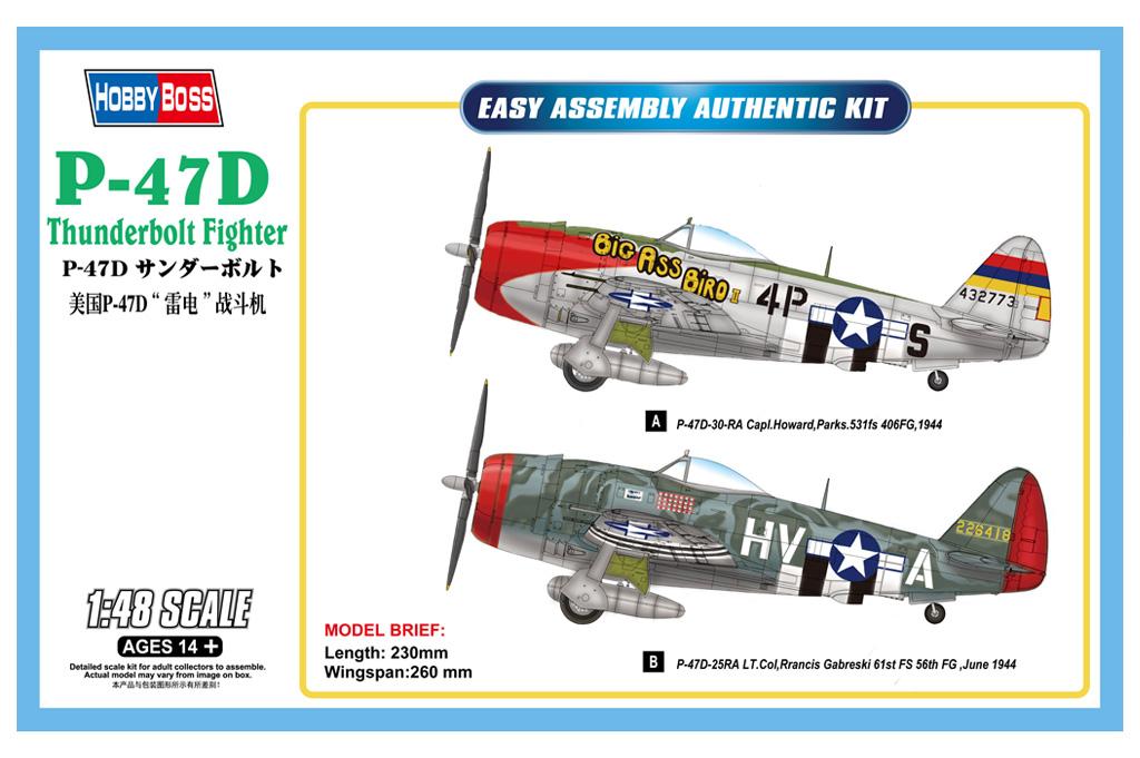 Hobby Boss 1/48 P-47D Thunderbolt Fighter