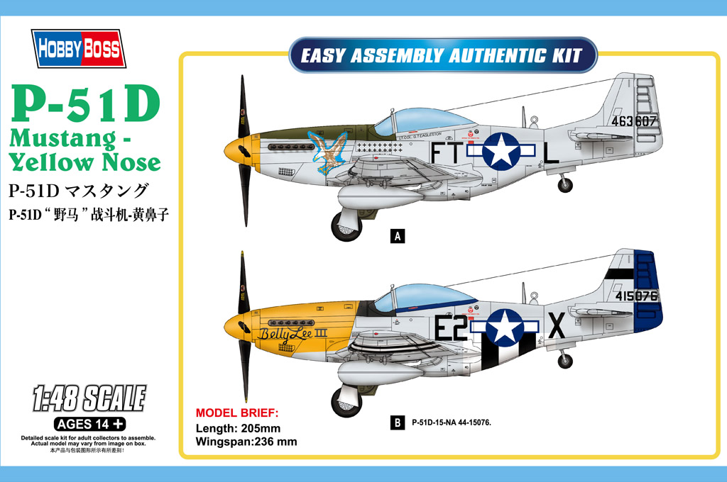 Hobby Boss P-51D Mustang - Yellow Nose
