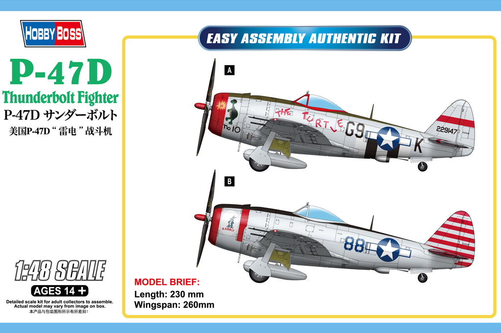 Hobby Boss P-47D Thunderbolt Fighter