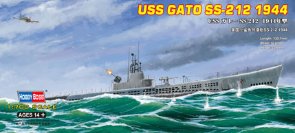Hobby Boss 1/700 USS GATO SS-212 1944