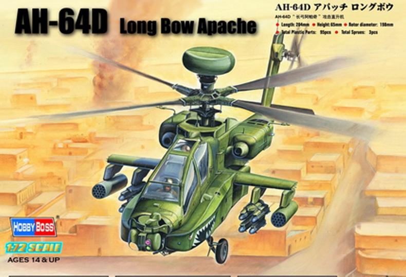 "Hobby Boss 1/72 AH-64D ""Long Bow Apache"""