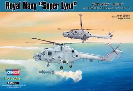 "Hobby Boss 1/72 Royal Navy Westland Lynx HMA.8 ""Super Lynx"""