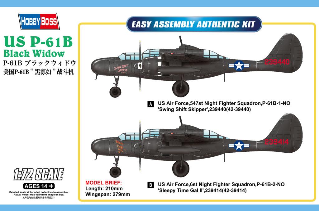 Hobby Boss 1/72 US P-61B Black Widow