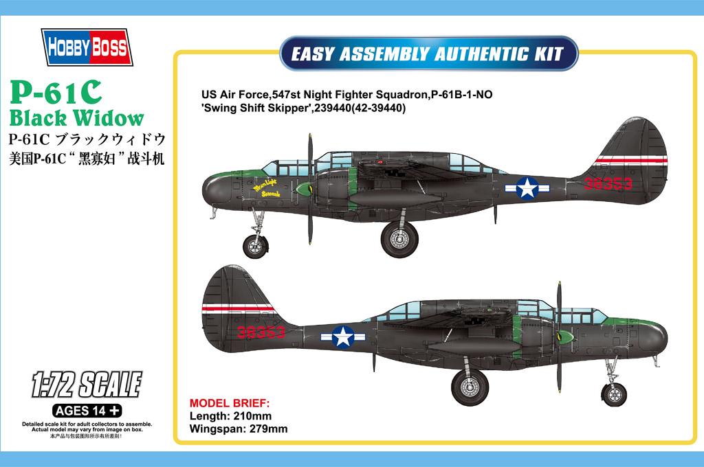 Hobby Boss 1/72 US P-61C Black Widow