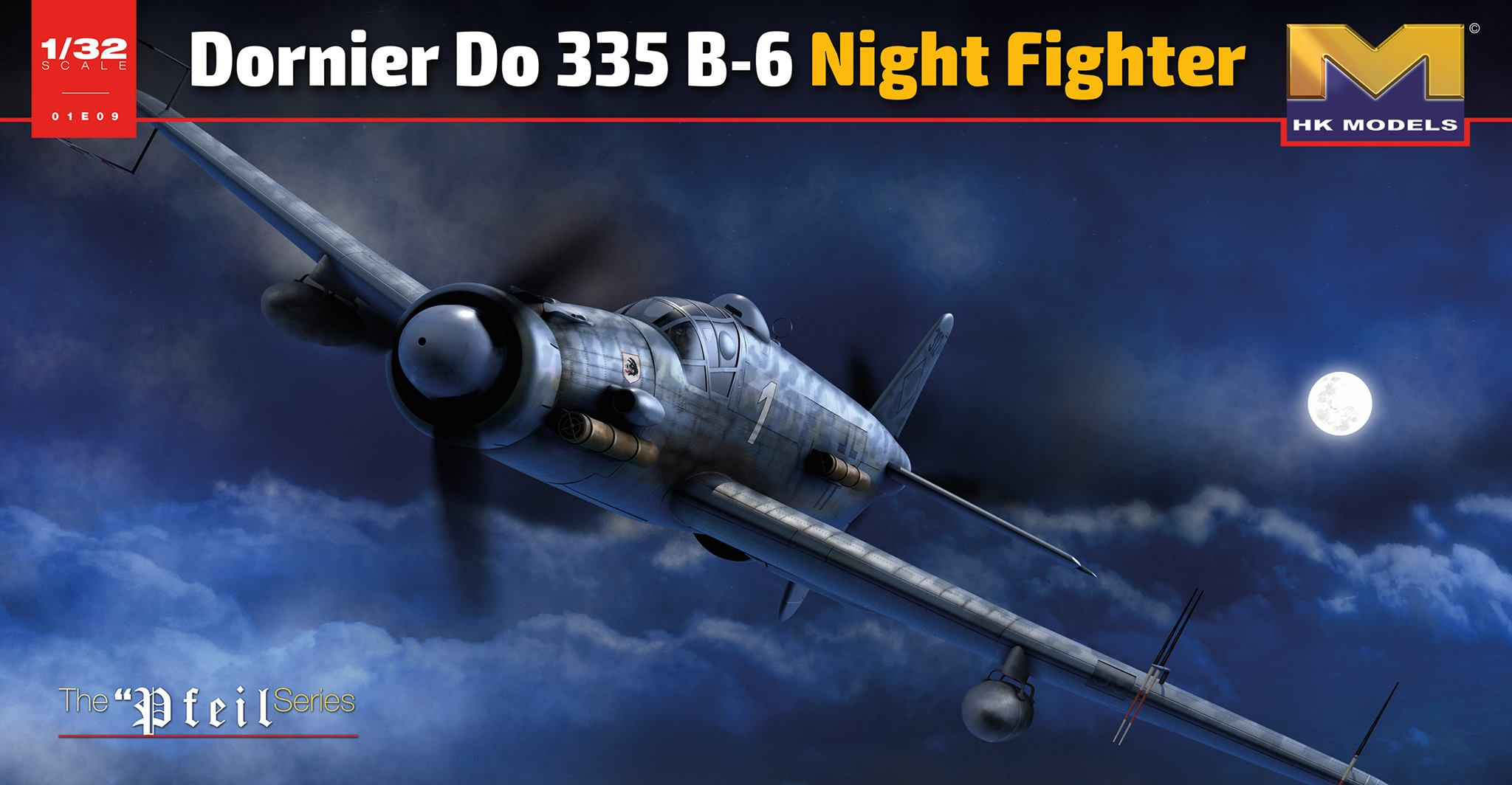 HK Models 1/32 WWII Leftwaffe Dornier DO335 B-2 Nightfighter, Aircraft