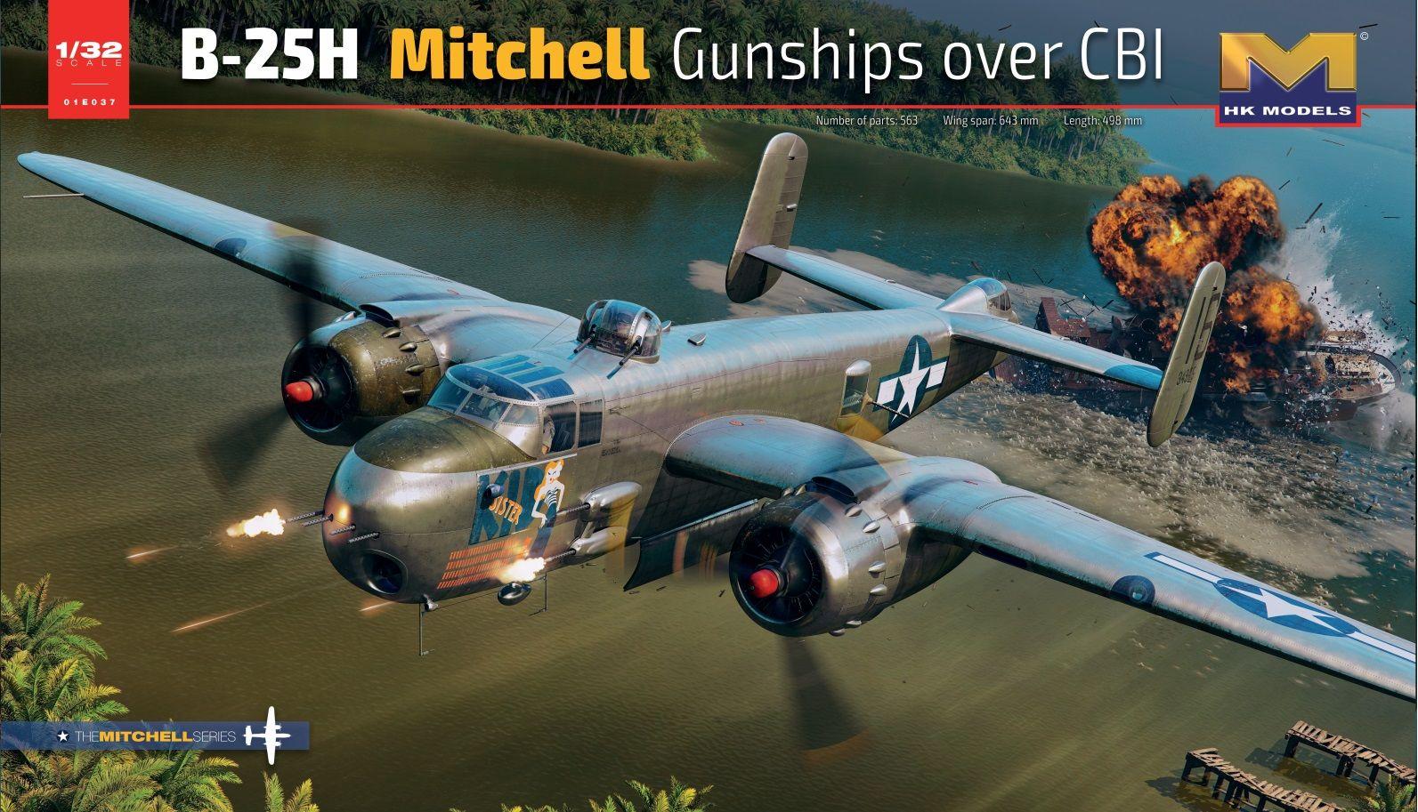 HK Models 1/32 B-25H Mitchell Gunships Over CBI, Aircraft
