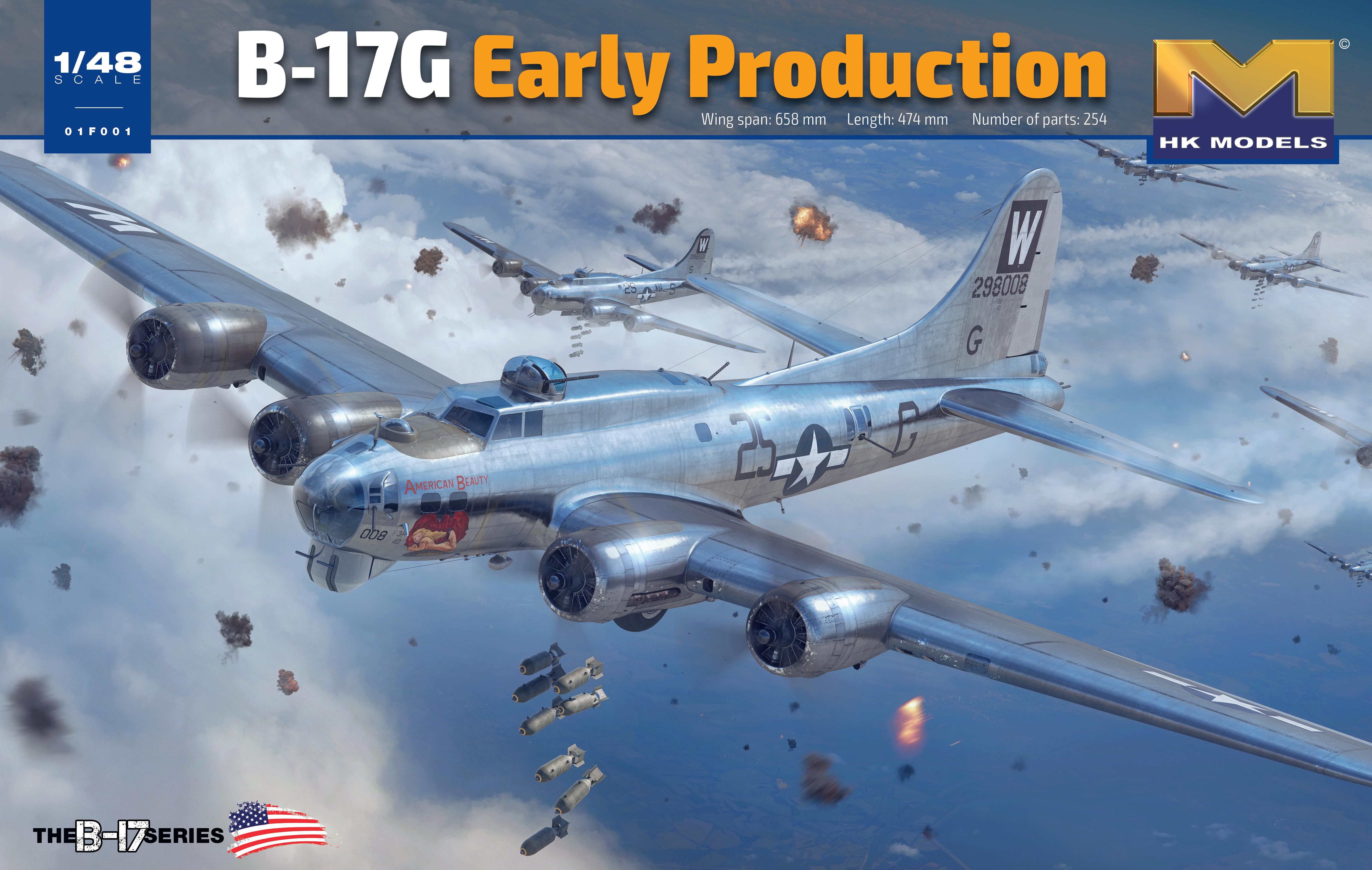 HK Models 1/48 B-17G Early Production, Aircraft