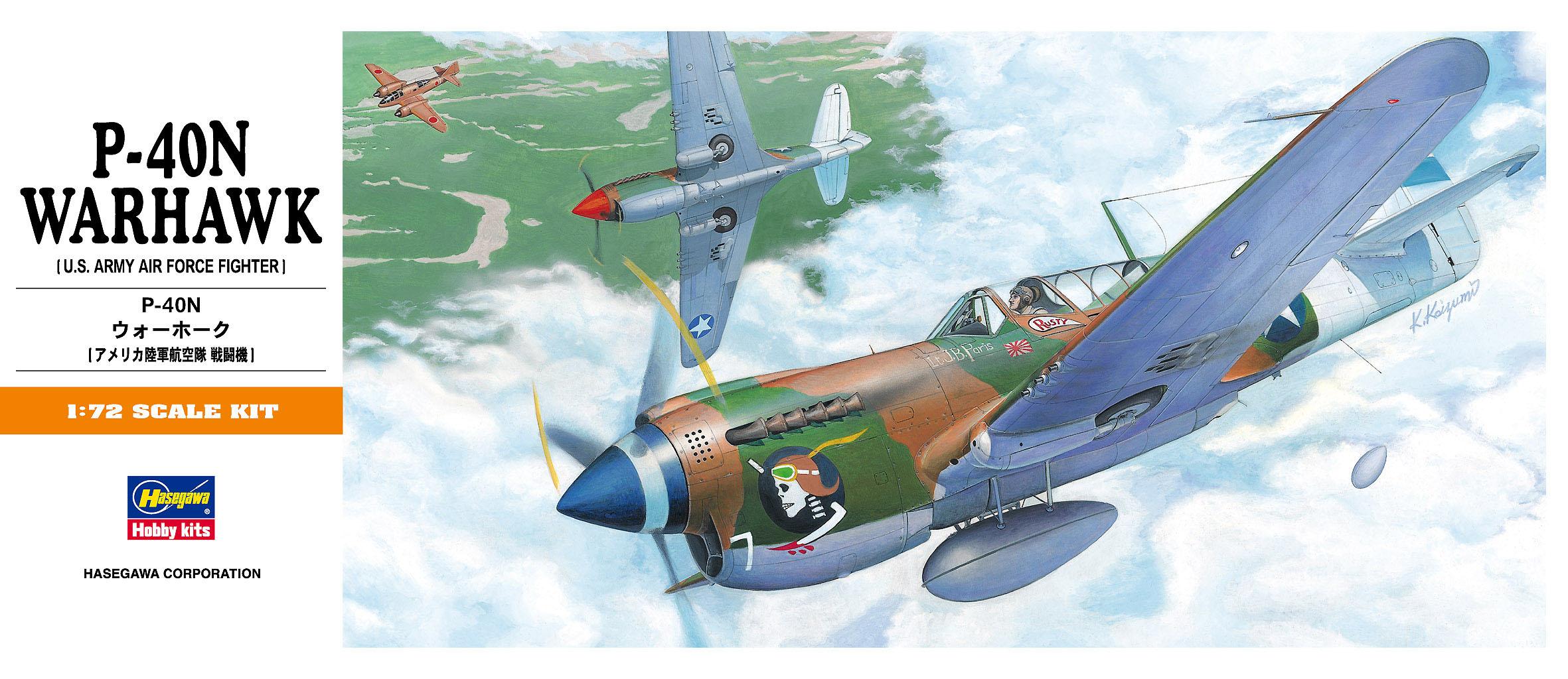 Hasegawa 1/72 P-40N Warhawk