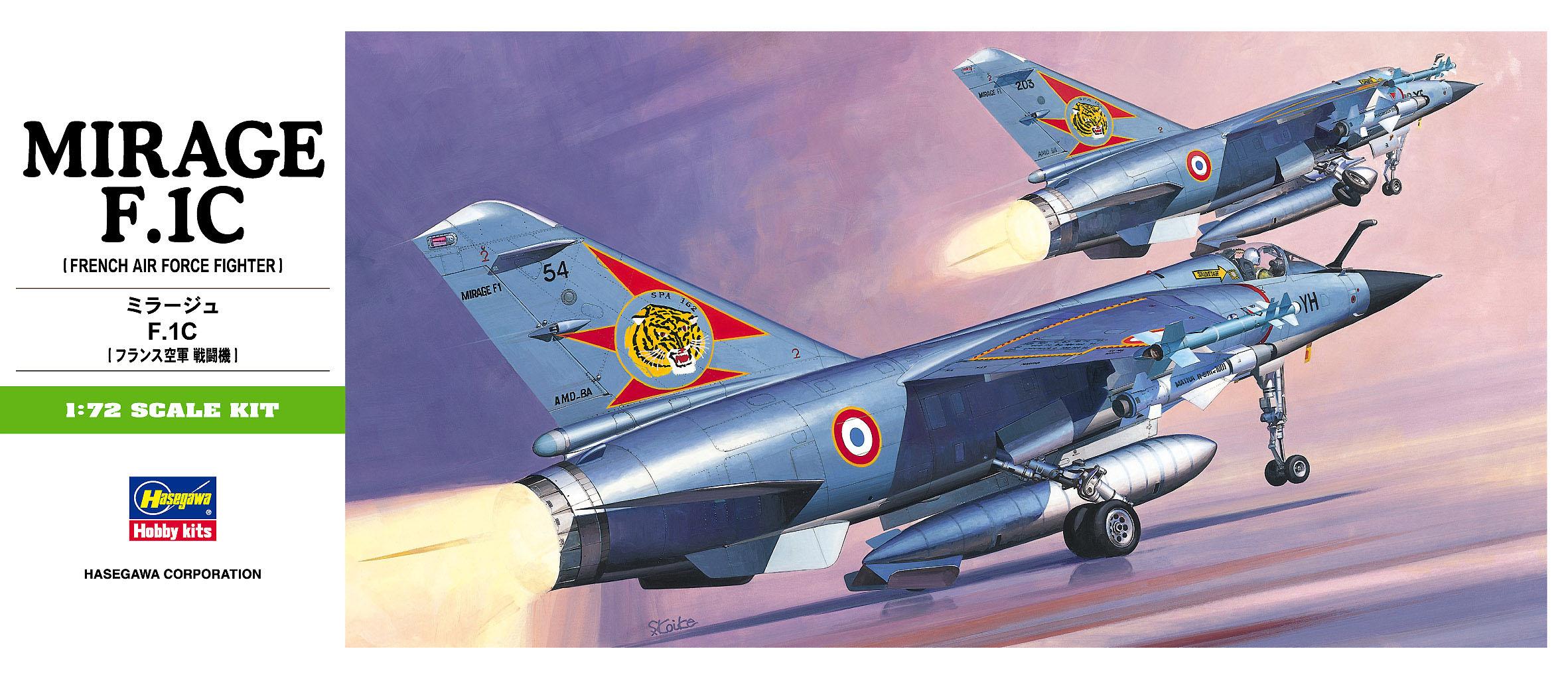 Hasegawa 1/72 Mirage F. 1C