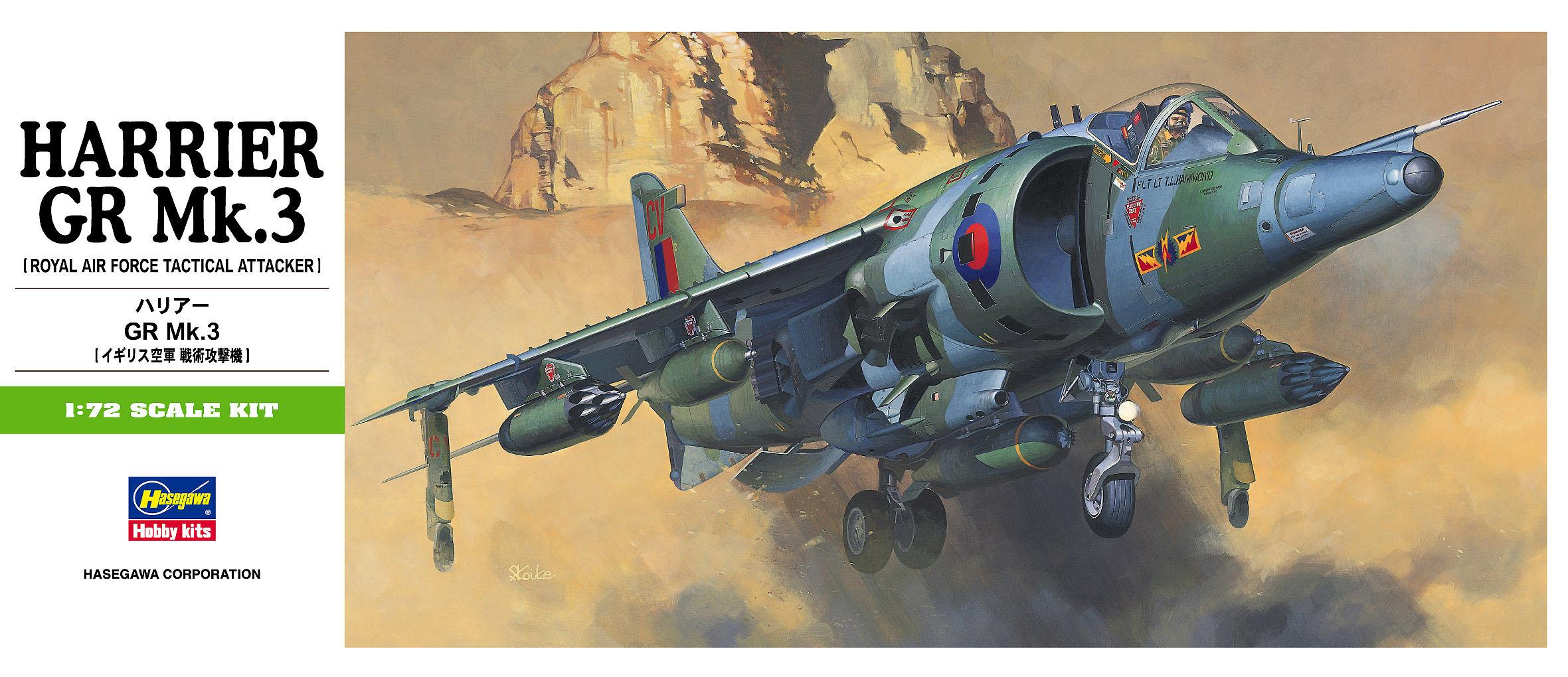 Hasegawa 1/72 Harrier GR. Mk. 3