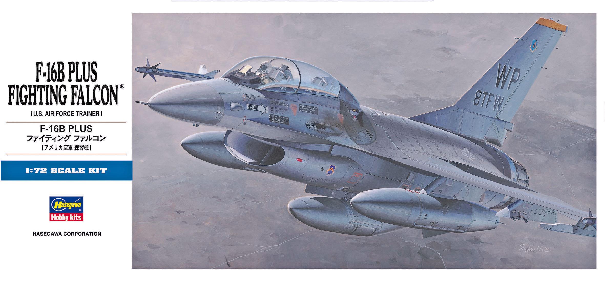 Hasegawa 1/72 F-16B Plus Fighting Falcon D14