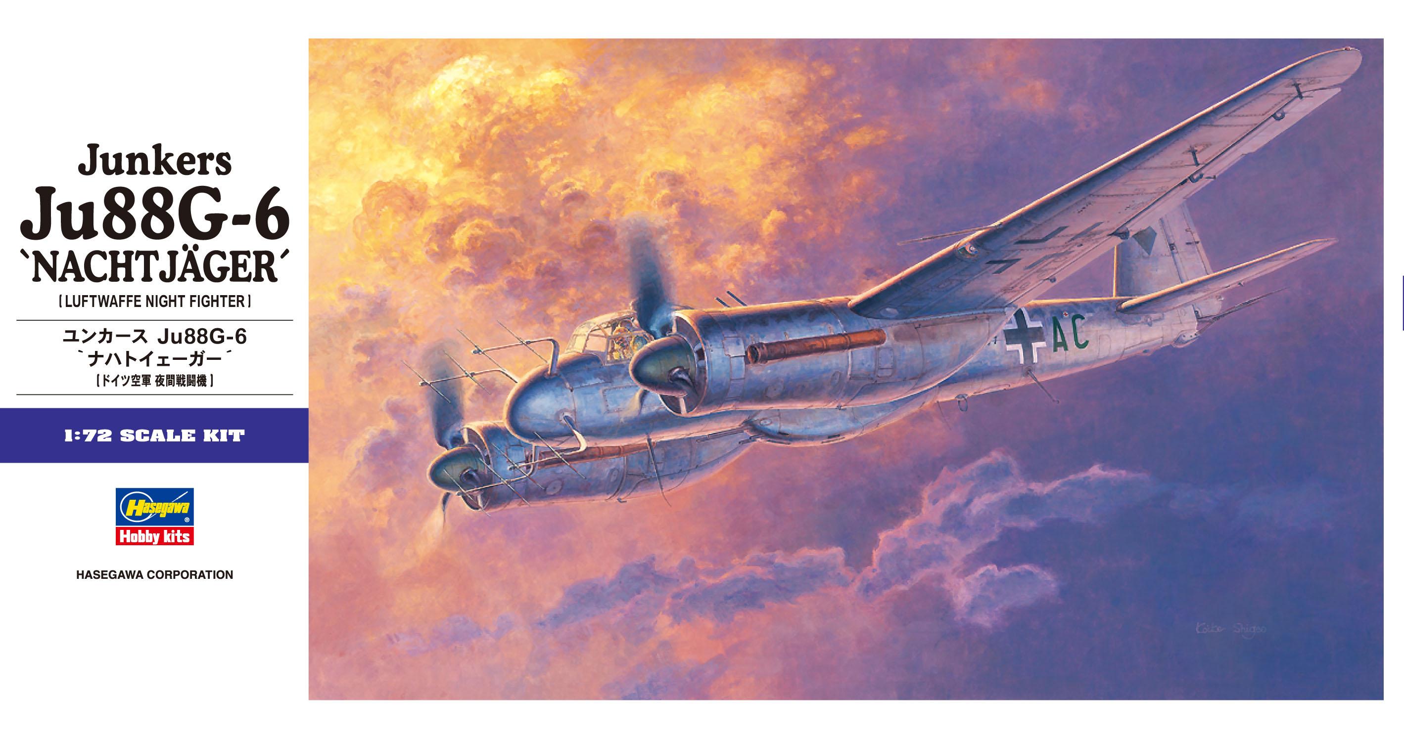 "Hasegawa 1/72 Ju88G-6 Junkers ""Nachtjager"" E32"