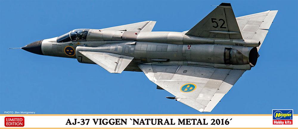 "Hasegawa 1/72 AJ-37 ""NATURAL METAL 2016"""