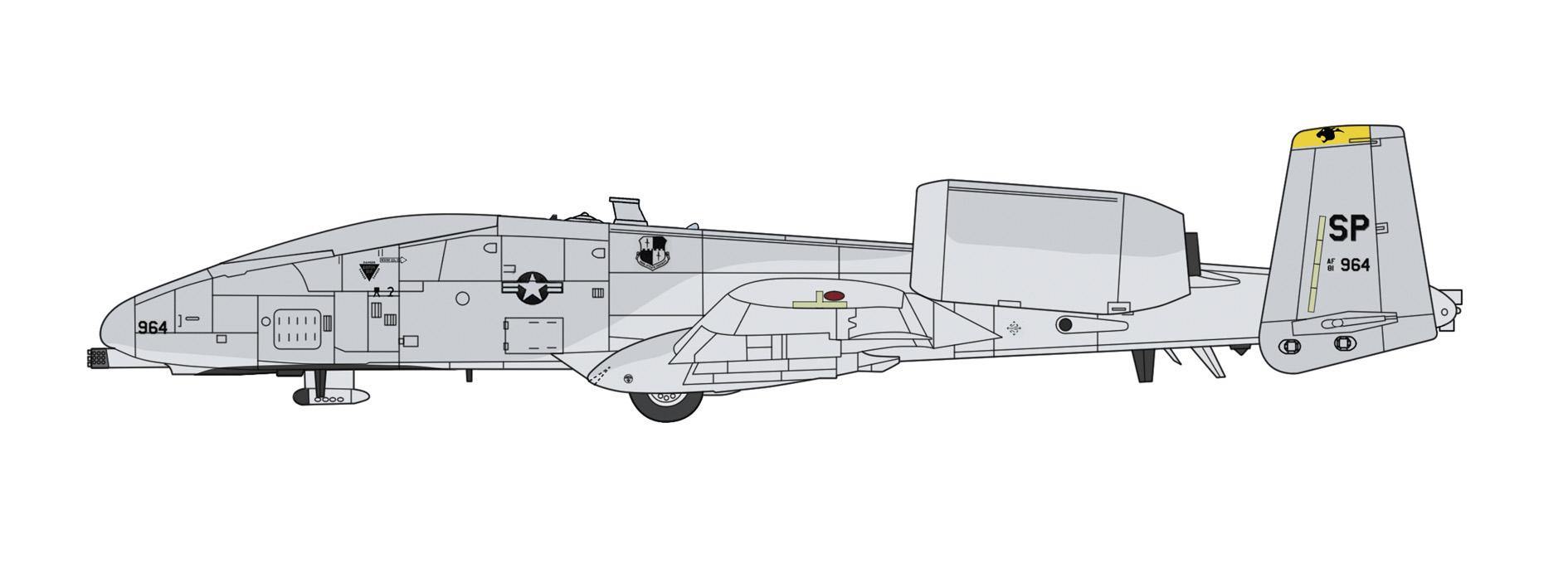 "Hasegawa 1/72 A10 Thunderbolt II  ""UAV"""