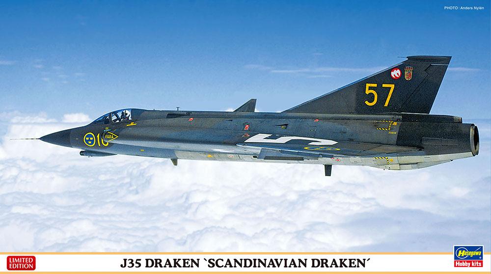 """Hasegawa 1/72 J35 Draken """"Scandinavian"""""""