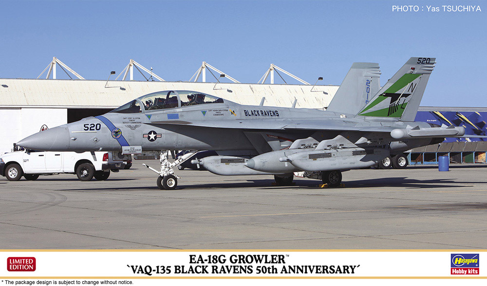 "Hasegawa 1/72 EA-18G Growler ""VAQ-135 Black Ravens 50th Anniversary"""
