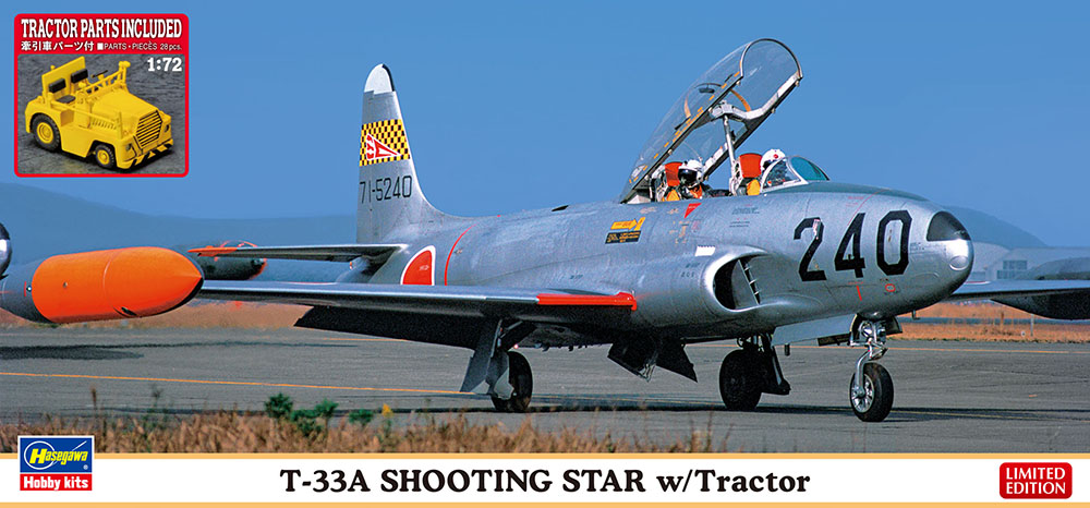 Hasegawa 1/72 T-33A Shooting Star with Tractor Model