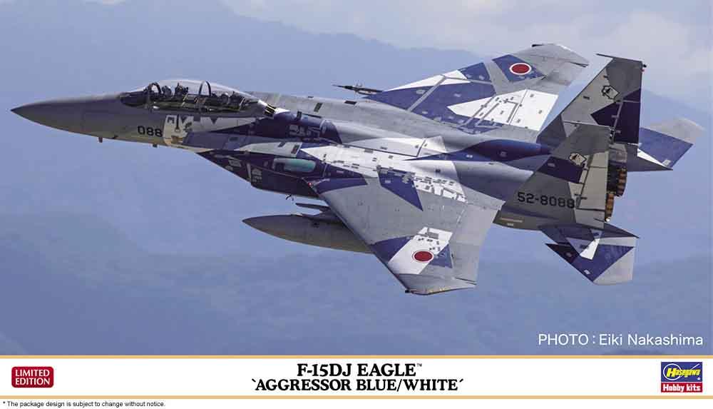"Hasegawa 1/72 F-15DJ Eagle ""Aggressor Blue/White"""