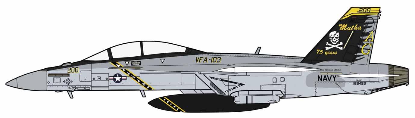 "Hasegawa 1/72 F/A-18F Super Hornet ""VFA-103 Jolly Rogers 75th Anniversary"""