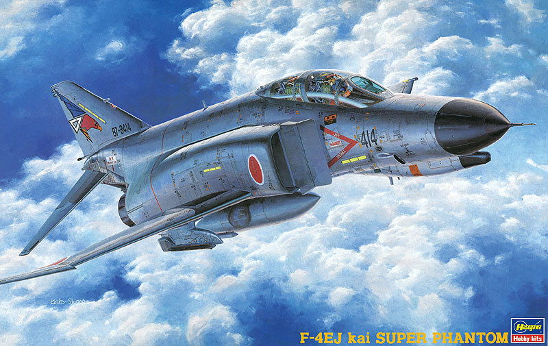 Hasegawa 1/48 F-4EJ Kai Super Phantom with One Pc. Canopy