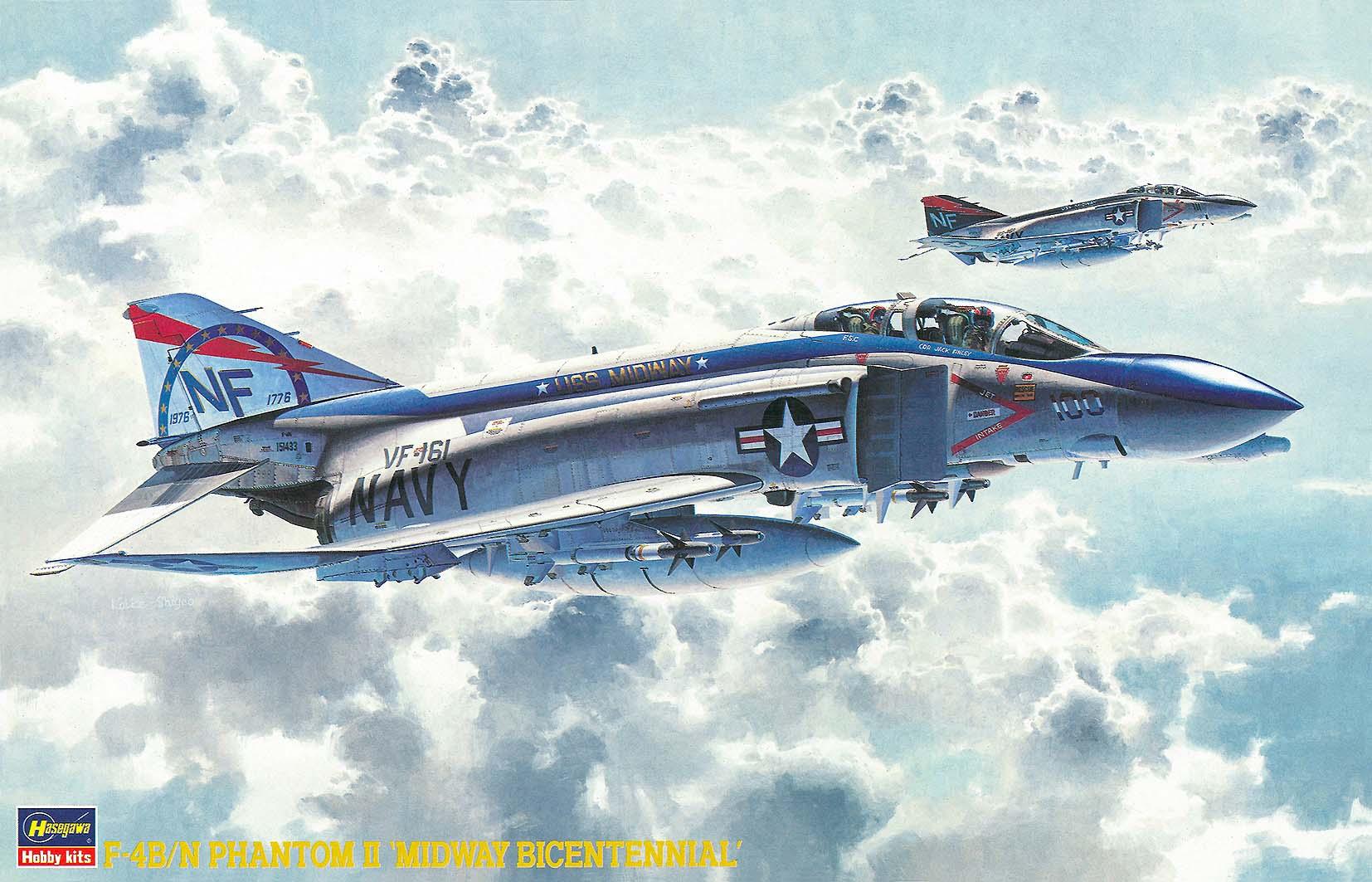 Hasegawa 1/48 F-4B/N W/ONE PIECE CANOPY PT10