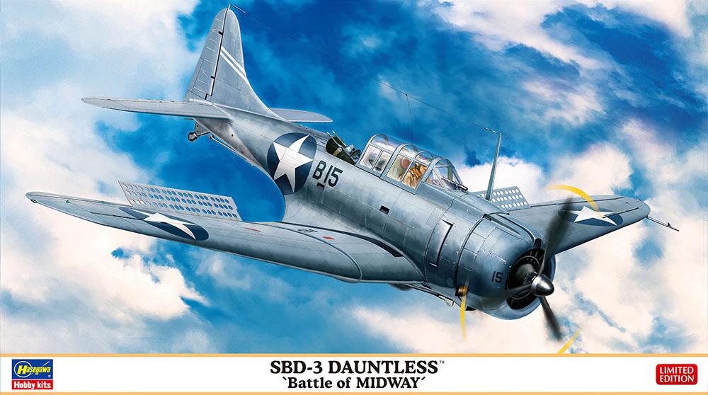 "Hasegawa 1/48 SBD-3 DAUNTLESS ""Battle of Midway"""