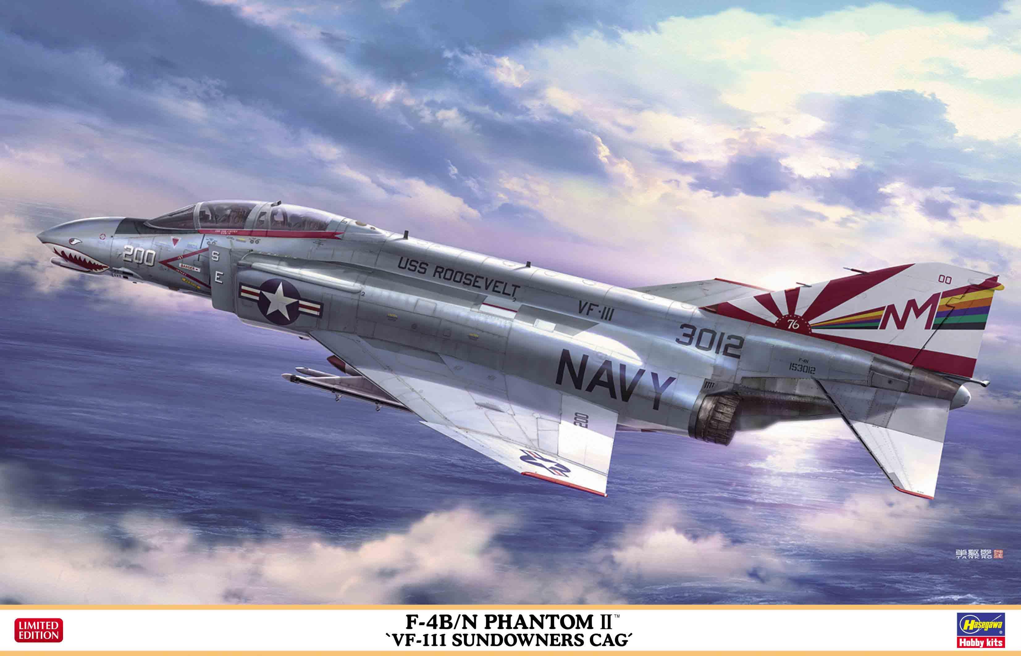 """Hasegawa 1/48 F-4B/N Phantom II """"VF-111 Sundowners Cag"""""""