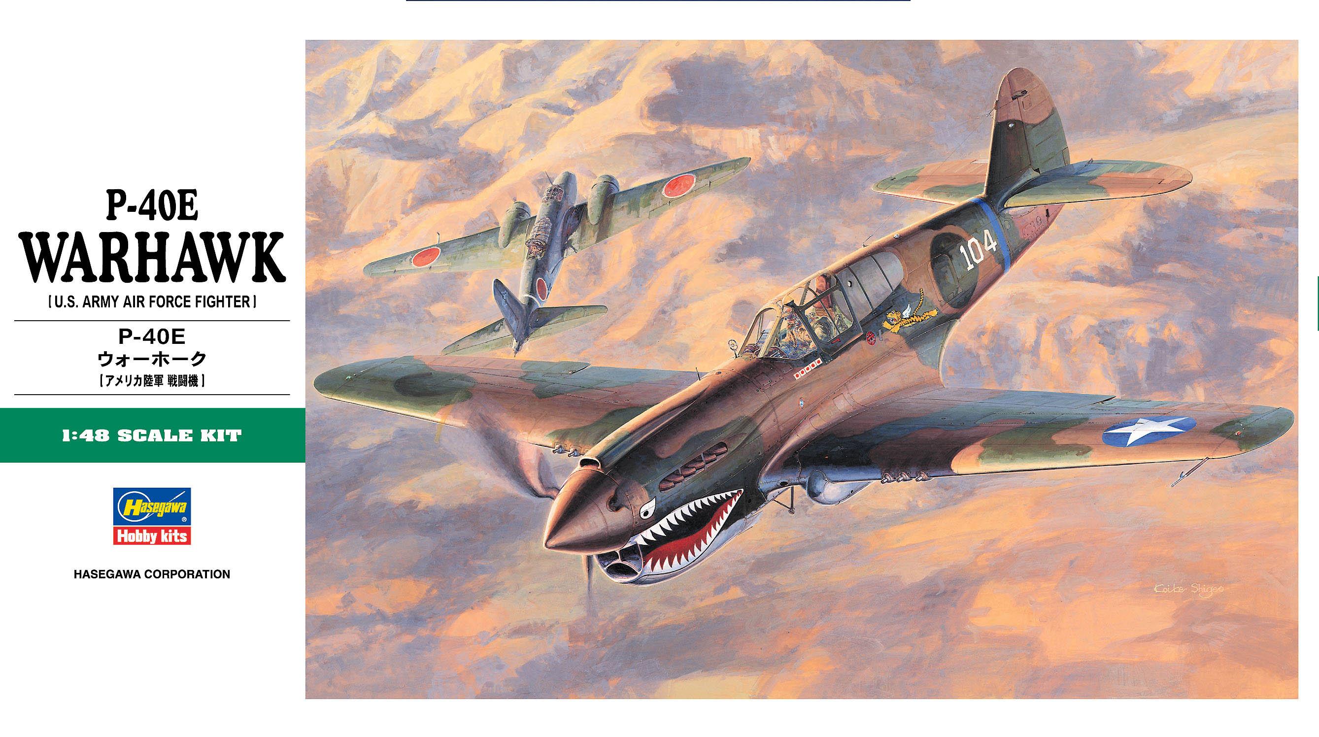 Hasegawa 1/48 P-40E Warhawk JT86