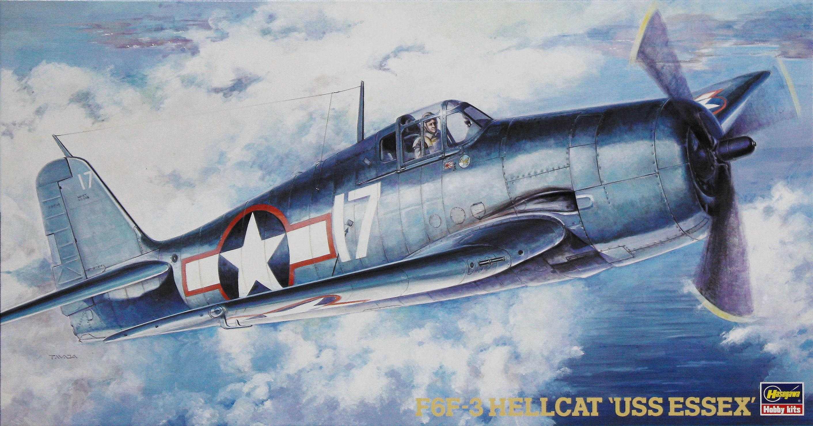 """Hasegawa F6F-3 Hellcat """"Uss Essex"""""""