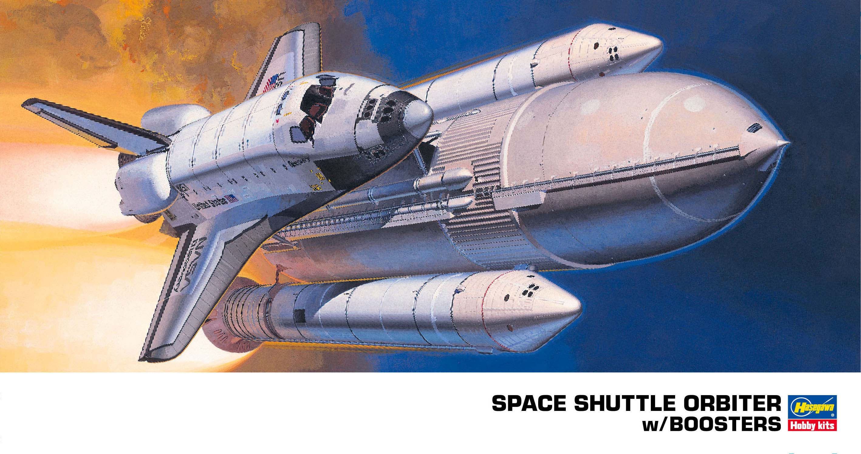 Hasegawa 1/200 Space Shuttle Orbiter With Boosters