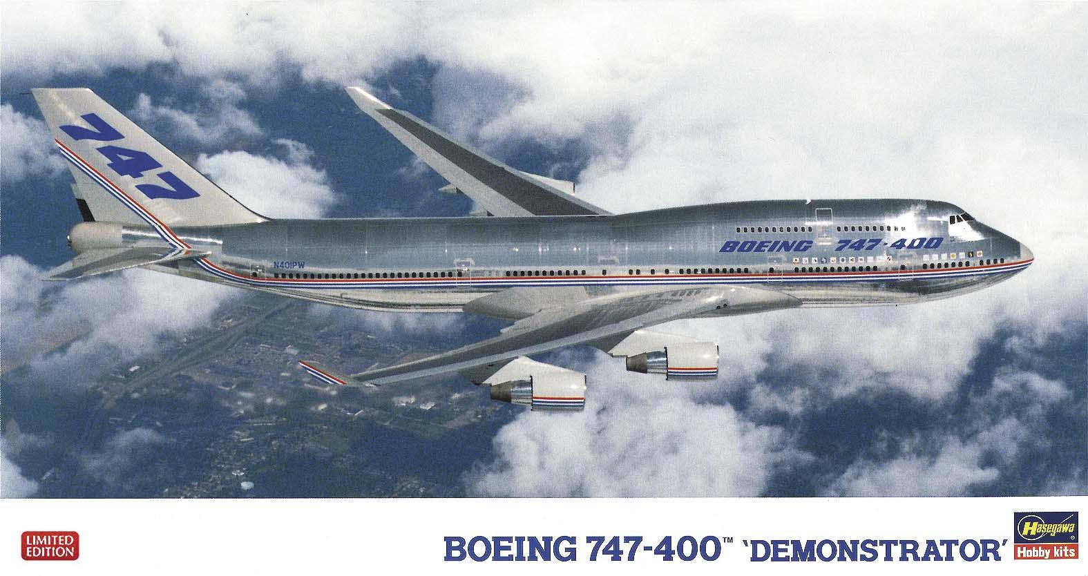 """Hasegawa 1/200  B747-400 """"Demonstrator"""""""